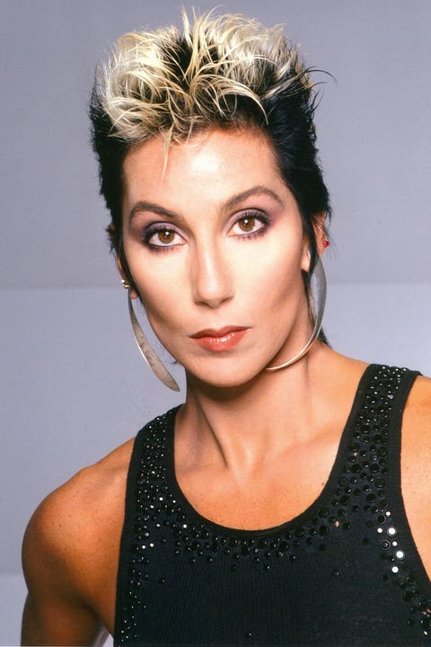 cher with blonde pixie haircut