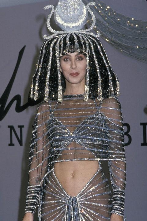 cher in a cleopatra costume
