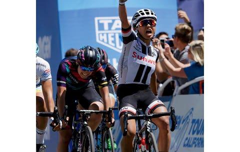 Rivera won Stage 3 of the 2017 Tour of California in Sacramento.