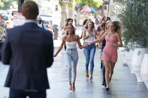 people, photograph, fashion, jeans, walking, fun, yellow, pedestrian, crowd, friendship,