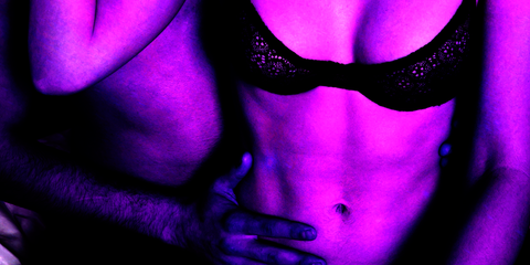 Purple, Violet, Blue, Muscle, Pink, Electric blue, Flesh, Magenta, Photography, Abdomen,