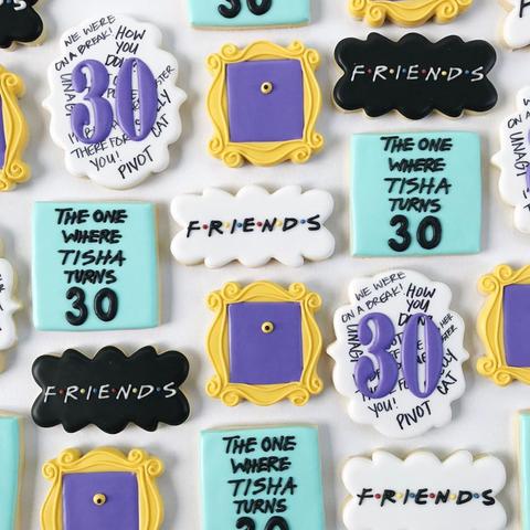 30th birthday friends cookies