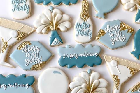 30th birthday thiry flirty cookies