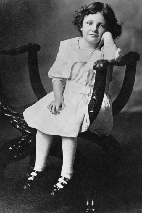 Actress Joan Crawford at the Age of Six