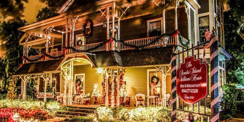 amelia island williams house bed and breakfast christmas inn