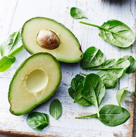 Avocado, baby spinach