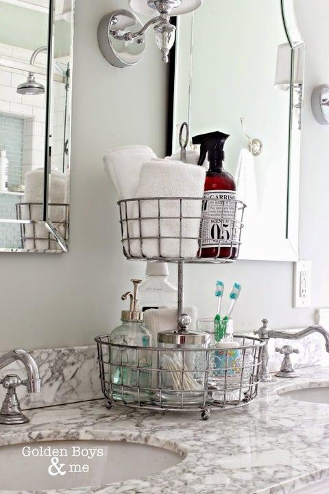bathroom organization ideas stand