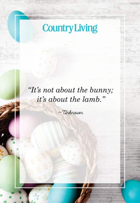 its not about the bunny its about the lamb