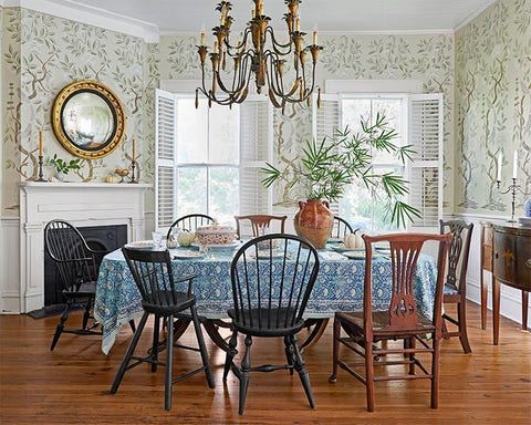 best fall color schemes celedon dining room handpainted dining room