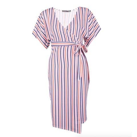 Clothing, Day dress, White, Dress, Sleeve, Robe, Nightwear, Pink, Pattern, Pattern,