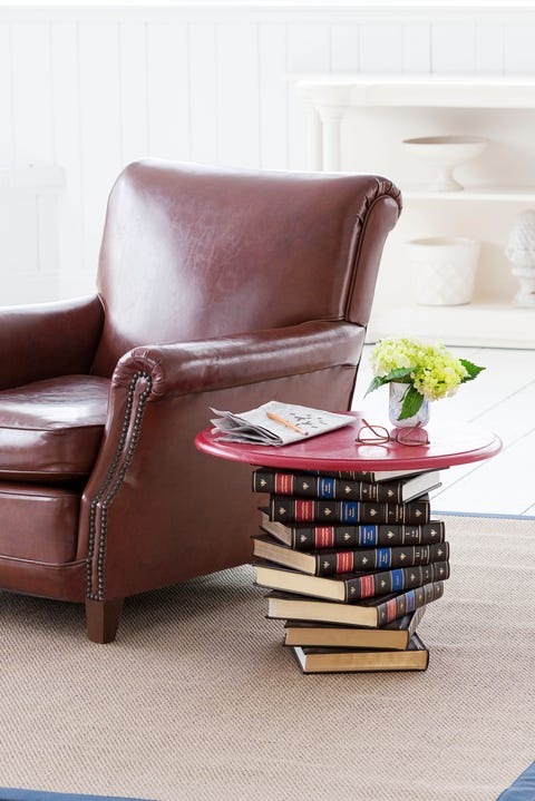 Book Side Table - DIY Home Decor