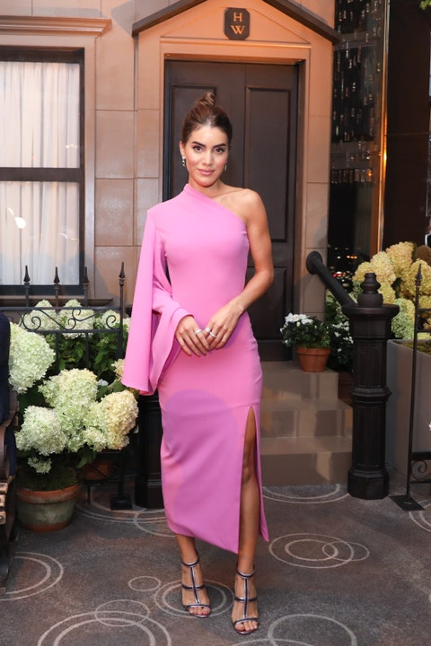 Clothing, Dress, Shoulder, Pink, Fashion model, Fashion, Cocktail dress, Formal wear, Waist, Joint,