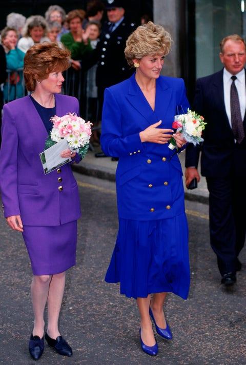 Princess Diana in All Blue in September 1992