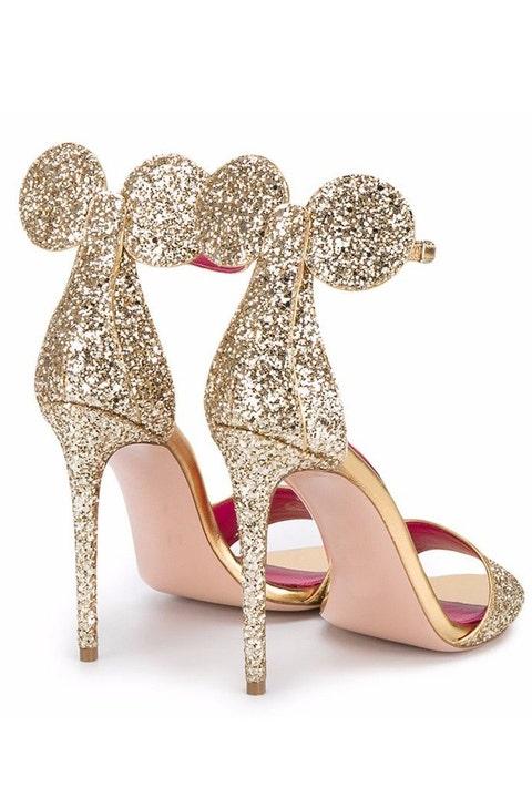 Footwear, High heels, Pink, Glitter, Shoe, Basic pump, Bridal shoe, Court shoe, Fashion accessory, Leg,
