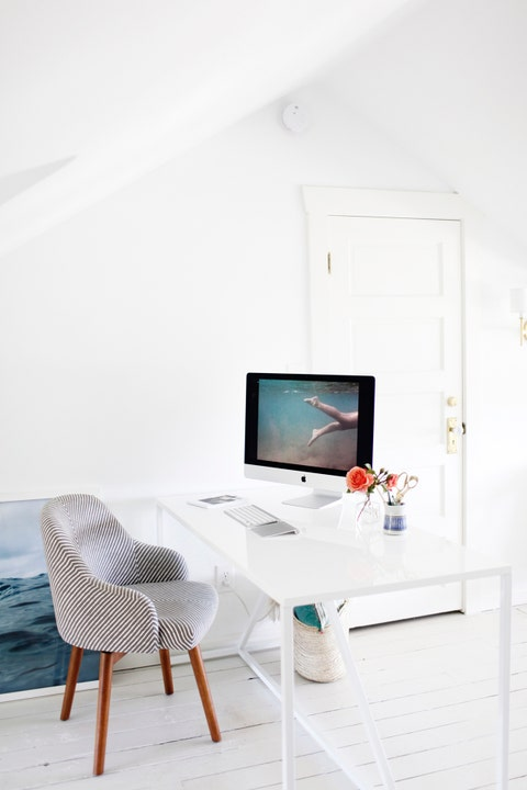 diy home office decor white