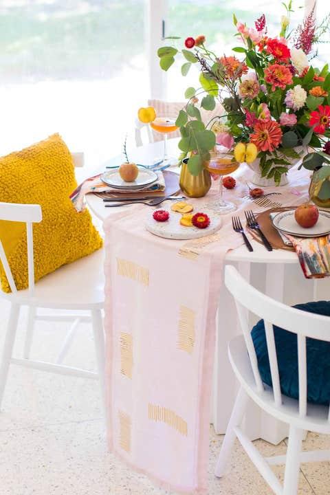 DIY Table Runner Birthday Decoration Ideas