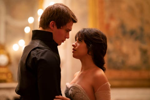 nick galitzine and camila cabello in the upcoming cinderella live action movie from amazon studios