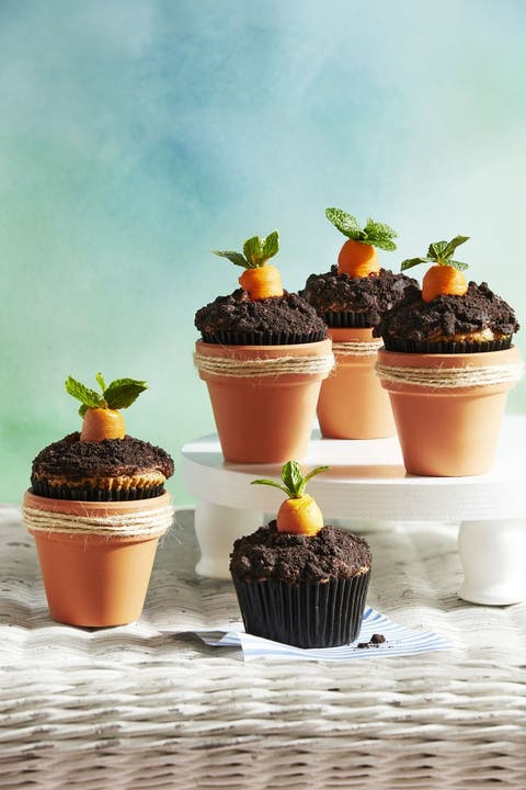 easter treats carrot patch cupcakes
