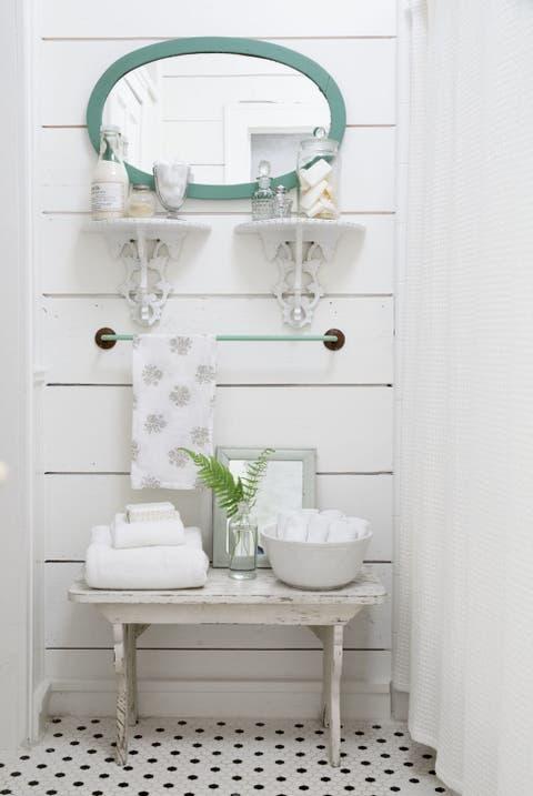 Bathroom, White, Room, Product, Green, Tile, Shelf, Interior design, Plumbing fixture, Furniture,