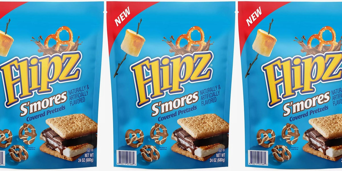 Flipz Has New S'mores-Covered Pretzels With a Marshmallow Drizzle