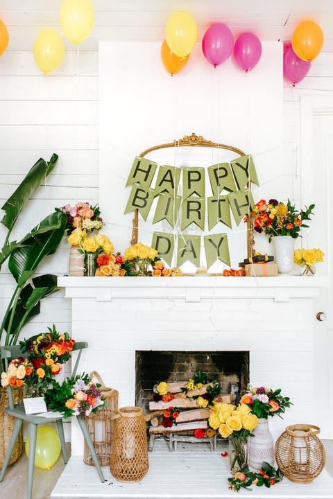 Birthday DIY Decoration Ideas Flower Bomb