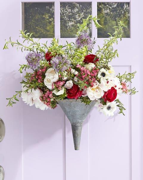 easter funnel wreath