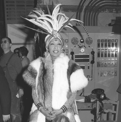 gala organized by the baroness de rothschild for the restoration of versailles castle in versailles, france on november 28 1973