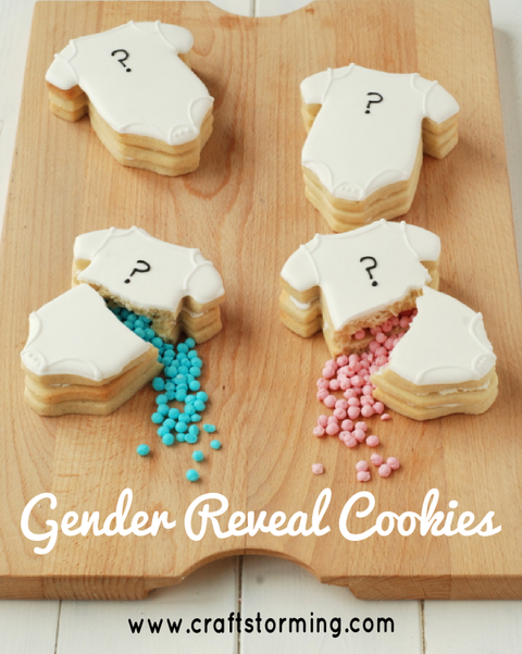 gender reveal ideas cookies