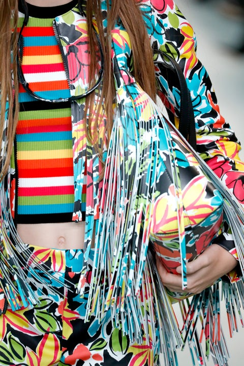 Clothing, Textile, Scarf, Design, Neck, Street fashion, Outerwear, Pattern, Pattern, Dress,