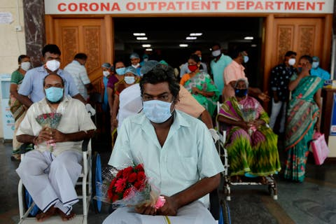 recovered patients from the covid 19 coronavirus after 100 days of treatment prepare to go home at a government hospital in chennai on december 31, 2020 photo by arun sankar  afp photo by arun sankarafp via getty images