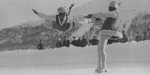 Ice skating, Recreation, Figure skating, Figure skate, Sports, Flip (acrobatic), Black-and-white, Jumping, Dancer, Ice dancing,