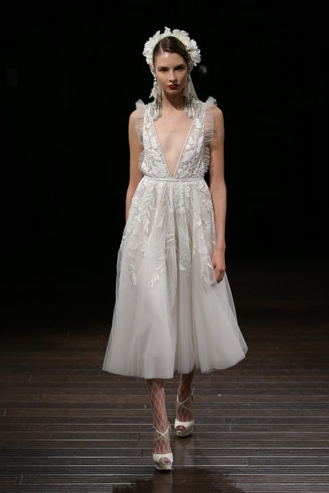 Fashion model, Clothing, Dress, Gown, Wedding dress, Fashion, Bridal clothing, Bridal party dress, Shoulder, Cocktail dress,