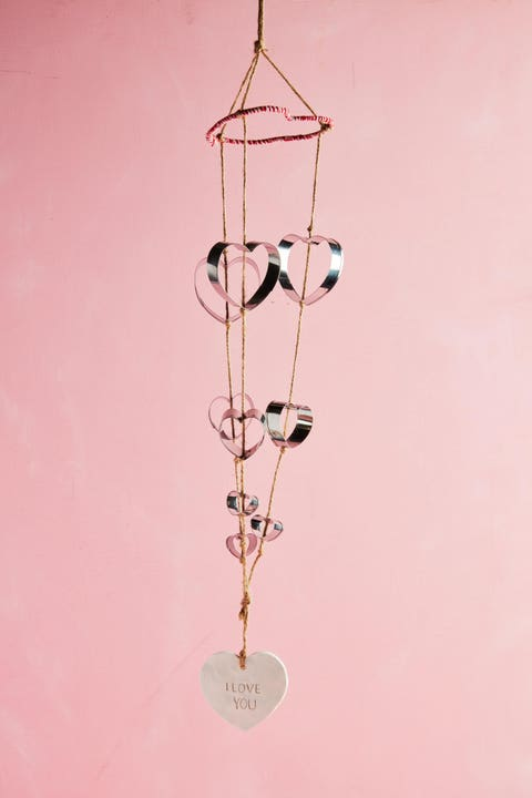 heart shaped cookie cutter wind chimes