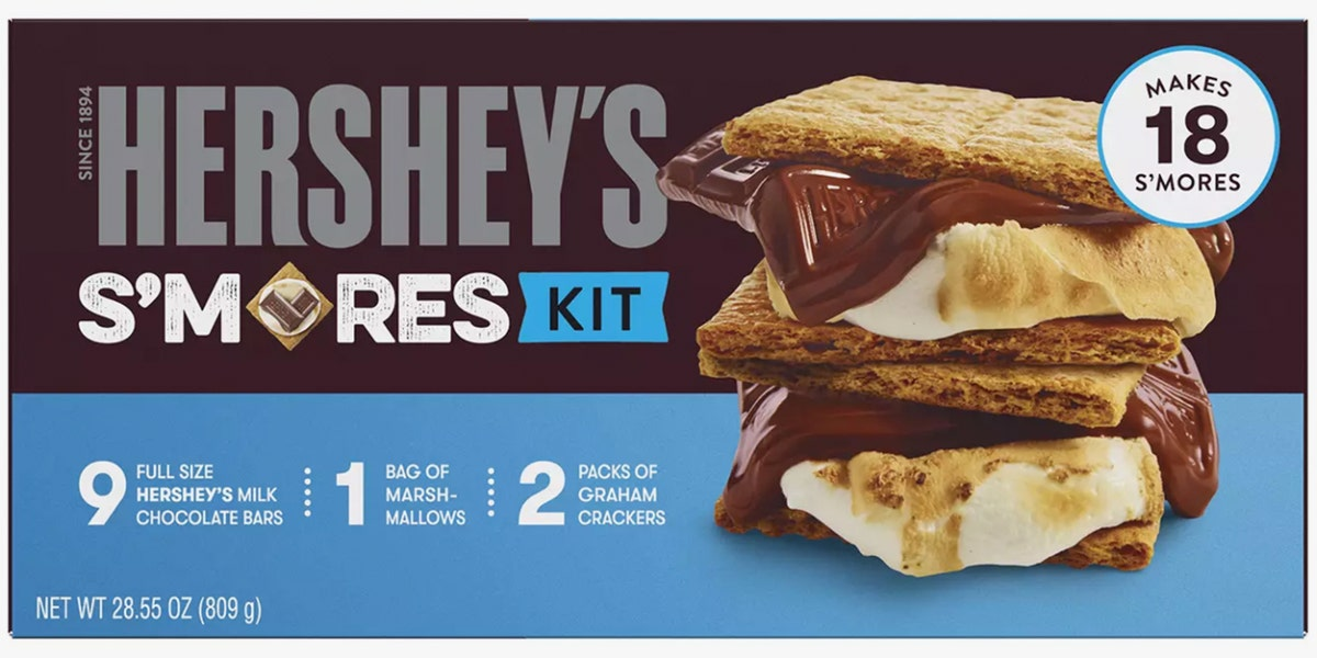 This Hershey's S'mores Kit Guarantees You Always Have Graham Crackers, Chocolate, and Marshmallows