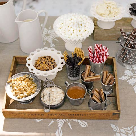 self serve hot chocolate bar