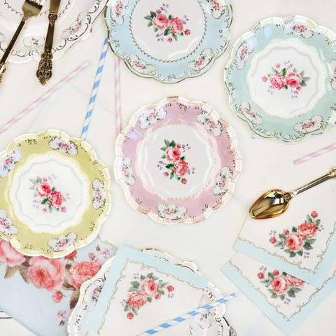 etsy floral paper plates