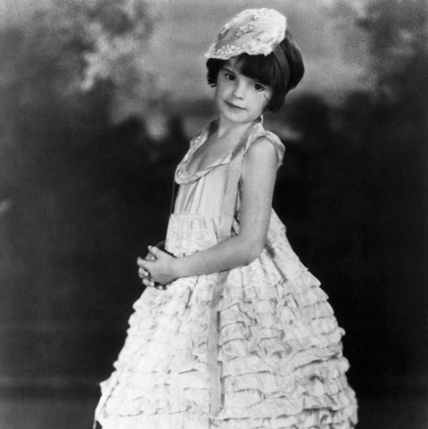 Judy Garland Wearing Ruffles @ 5-Yrs-Old