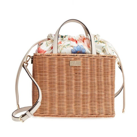 kate spade wicker floral bag
