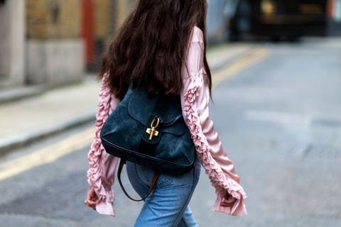 Clothing, Trousers, Denim, Textile, Jeans, Bag, Outerwear, Pink, Style, Street fashion,