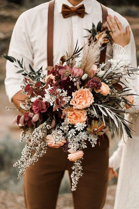 luscious fall wedding bouquet