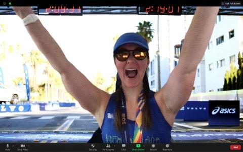 marathon runner zoom halloween costume