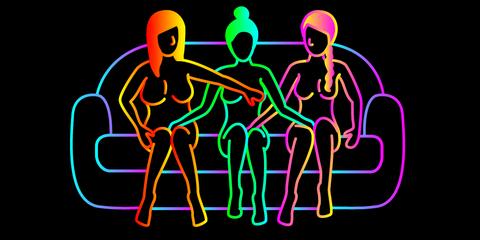 Human, Graphic design, Neon, Illustration, Graphics,