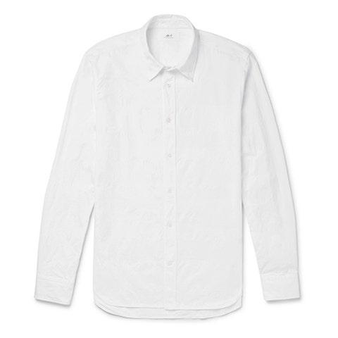 Clothing, White, Sleeve, Shirt, Collar, Long-sleeved t-shirt, T-shirt, Outerwear, Top, Dress shirt,