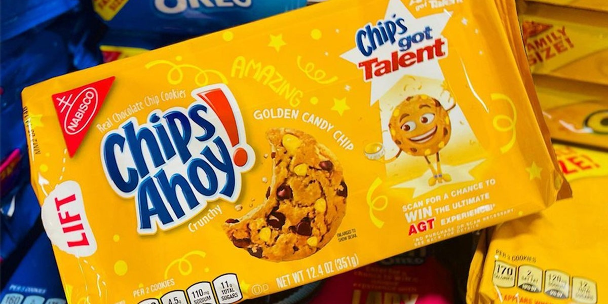 Chips Ahoy!'s New Chocolate Chip Cookies Are Filled With Golden Candy Chips