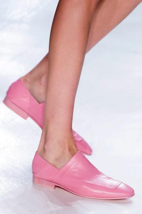 Footwear, Pink, Shoe, Human leg, Leg, Mary jane, Magenta, Ankle, High heels, Sandal,