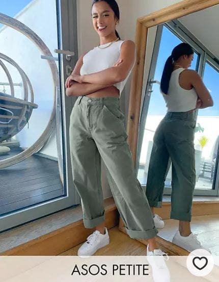pantaloni asos  petite a vita alta