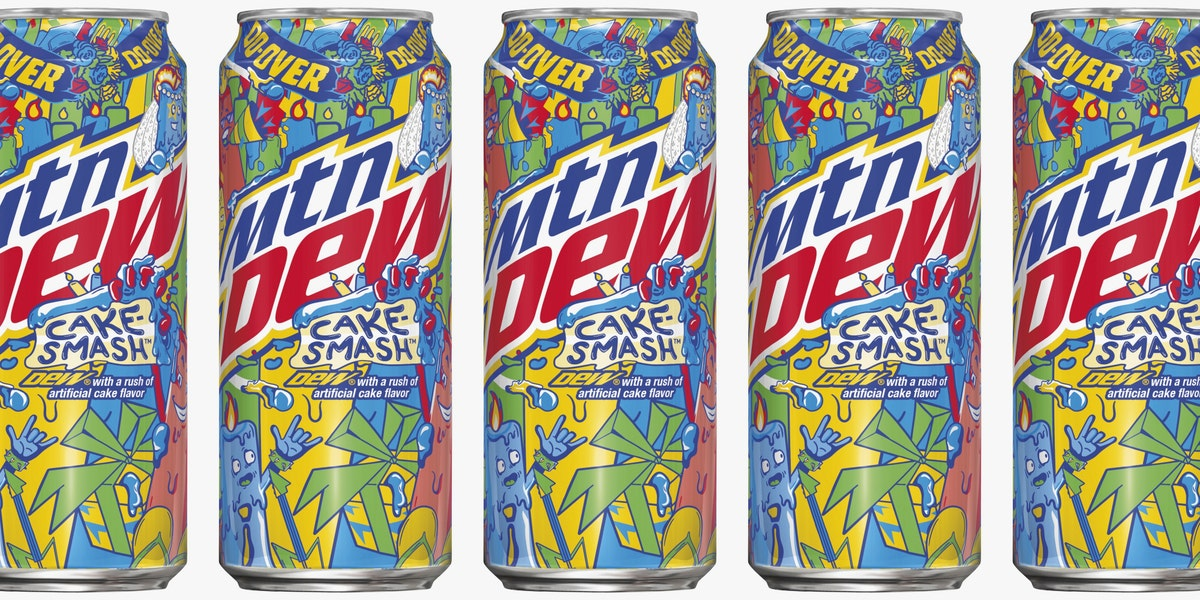 Mountain Dew Is Releasing a Cake Smash Flavor That Tastes Like Dessert