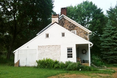 an old house in the country needs a facelift