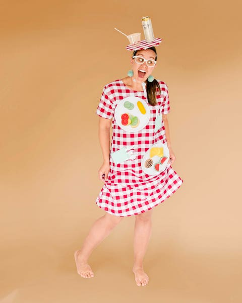 picnic blanket costume with fake food