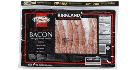 Food, Bacon, Cuisine, Animal fat, Meat, Bratwurst, Ingredient, Dish, Back bacon, Snack,